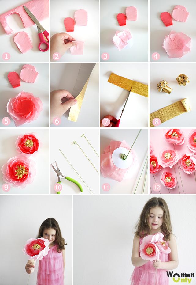 Цветок с конфетой своими руками пошаговое фото 49