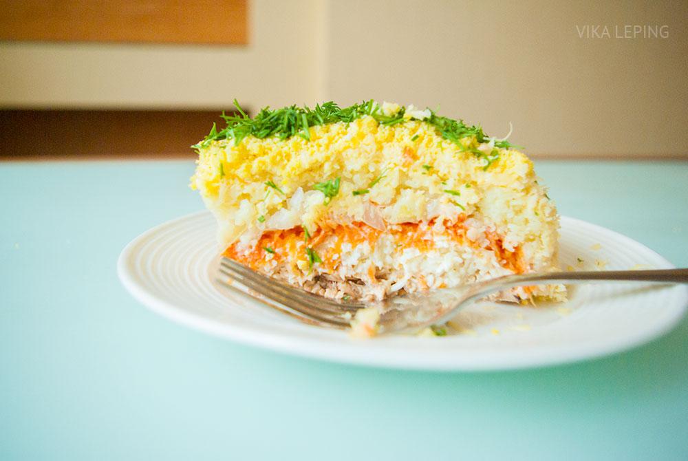 Салат рыбный мимоза рецепт с