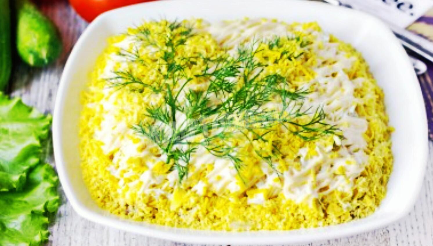 с пошаговый рецепт сайрой фото мимоза салат с