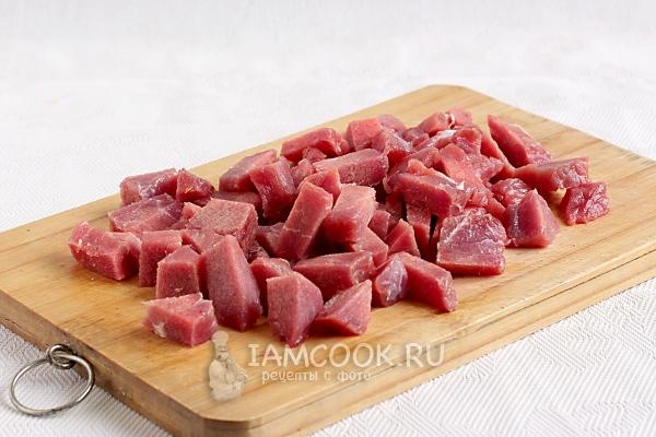 Mikrodalgada et - kızartılmış sığır eti hazırlıyoruz