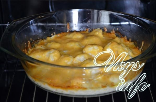 Blumenkohl mit Käse, der Rezepte kocht. Blumenkohl kochen. Rezept ...