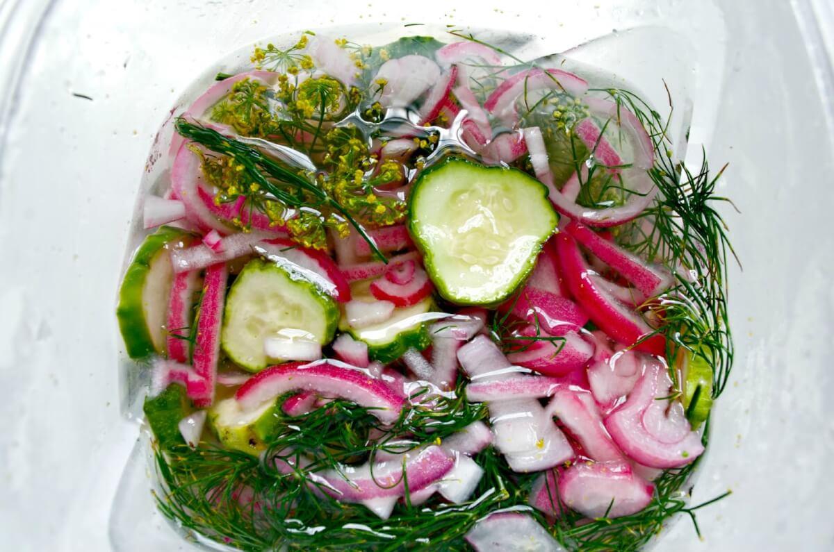 салат на зиму огурцы с укропом