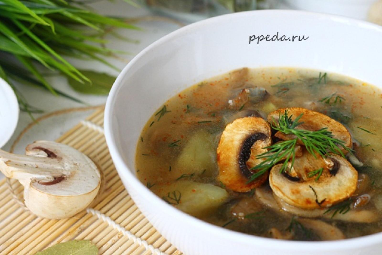 Суп с грибами и с сыром плавленным рецепт пошагово в