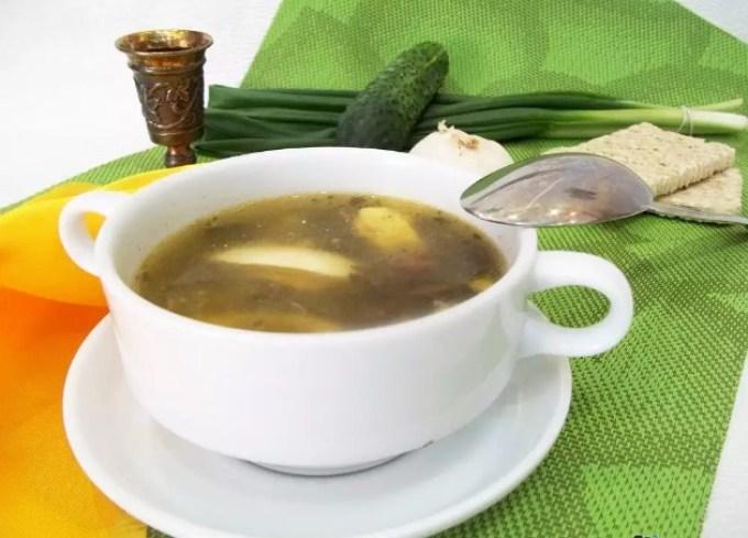 Рецепты — грибной суп на кокосовом молоке.